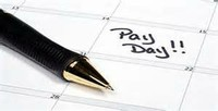 "Calendar with ""Pay Day"""